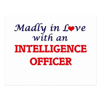 Madly in love with an Intelligence Officer Postcard