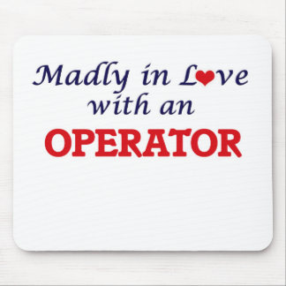 Madly in love with an Operator Mouse Pad