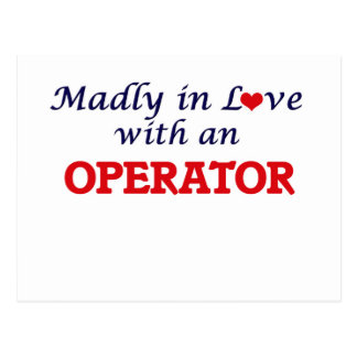 Madly in love with an Operator Postcard