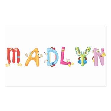 Beach Themed Madlyn Sticker