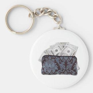 MadMoney Basic Round Button Keychain
