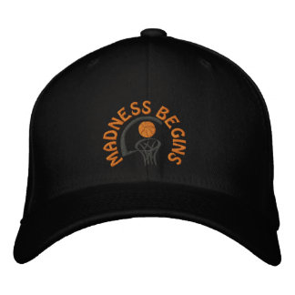 Madness Begins Basketball Embroidered Cap