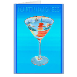 madness blue stationery note card