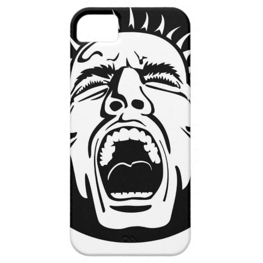 Madness - Screaming Face by Vectorportal iPhone 5 Case