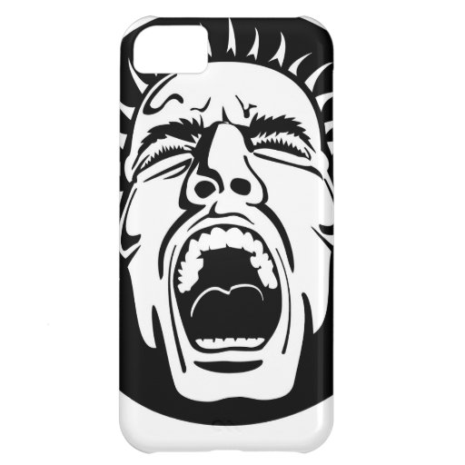 Madness - Screaming Face by Vectorportal iPhone 5C Cases