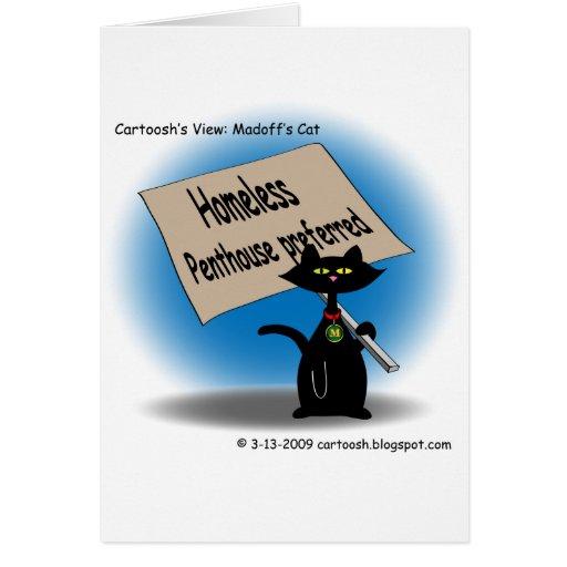 Madoff's Cat Greeting Card