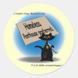Madoff's Cat Round Sticker