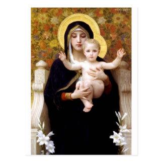 Madona con la pintura antigua de Bouguereau de los Tarjetas Postales