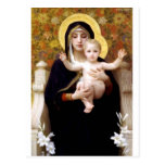 Madona With Lilies Bouguereau Antique Painting Postcard at Zazzle