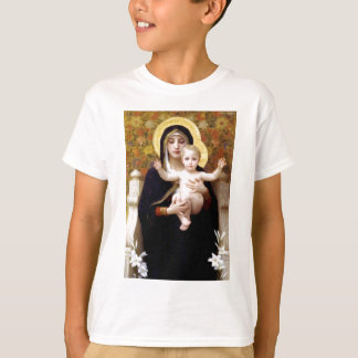 Madona with lilies Bouguereau antique painting T-Shirt