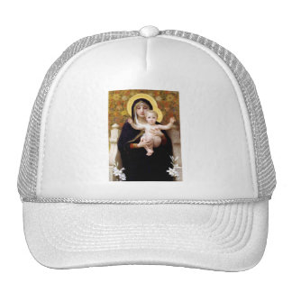 Madona with lilies Bouguereau antique painting Trucker Hat