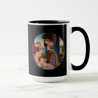 Madonna Adoring the Child with the Infant Saint Mug