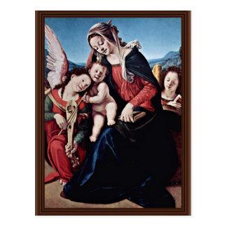 Madonna And Angels By Piero Di Cosimo Postcard