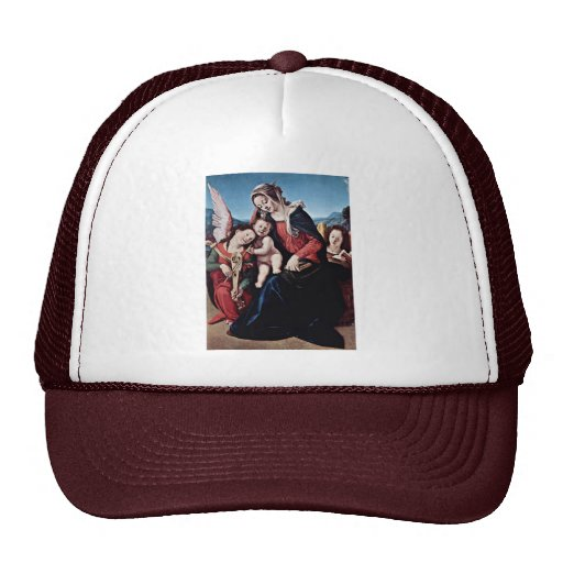 Madonna And Angels By Piero Di Cosimo Trucker Hat