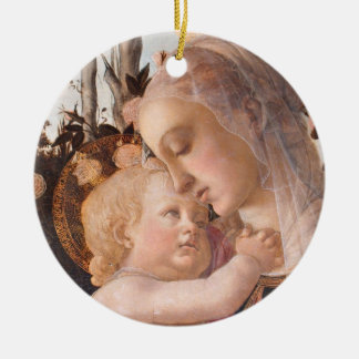 Madonna and Baby Jesus Ceramic Ornament