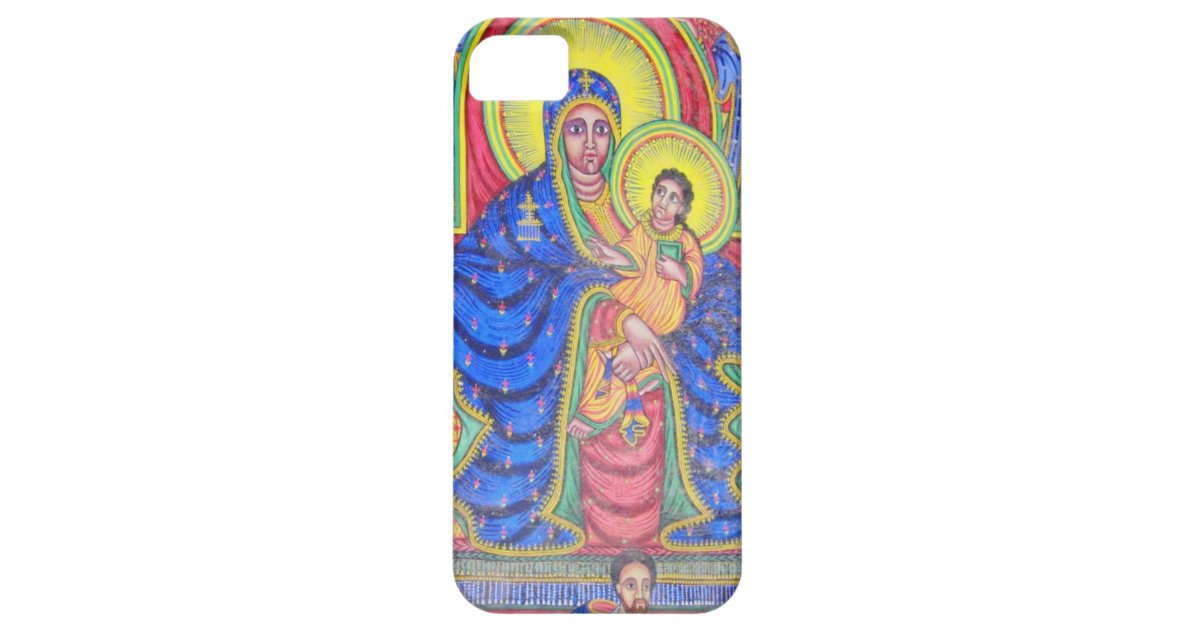 Madonna and Baby Jesus Ethiopian Art iPhone 5 Case | Zazzle com