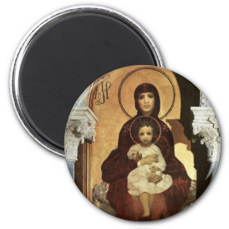 Madonna and Baby Jesus on Throne Magnet
