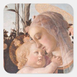 Madonna and Baby Jesus Square Sticker