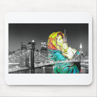 Madonna and Baby Jesus Visit New York City Mouse Pad