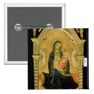 Madonna and Child, 1400 2 Inch Square Button