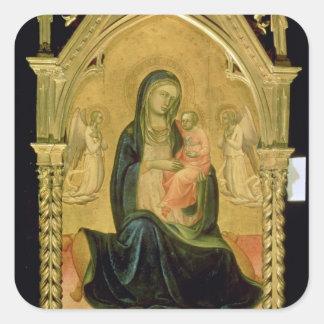 Madonna and Child, 1400 Square Sticker