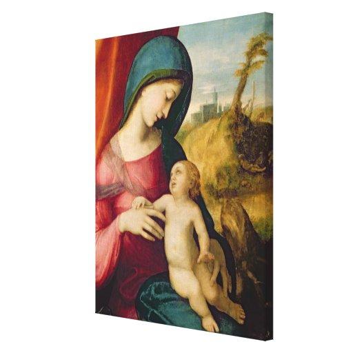 Madonna and Child, 1512-14 Canvas Print