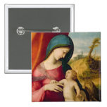 Madonna and Child, 1512-14 Pinback Button