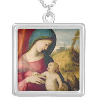 Madonna and Child, 1512-14 Silver Plated Necklace