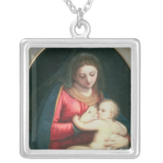 Madonna and Child, 1598 Silver Plated Necklace