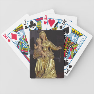 Madonna and Child, 17th century (gilded wood) Bicycle Playing Cards