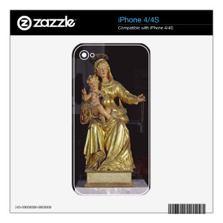 Madonna and Child, 17th century (gilded wood) iPhone 4 Decal