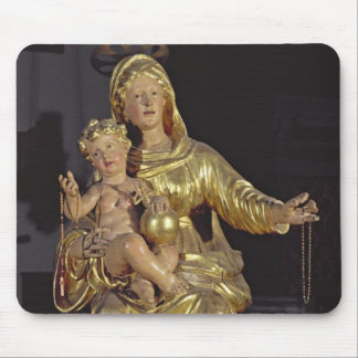 Madonna and Child, 17th century (gilded wood) Mouse Pad