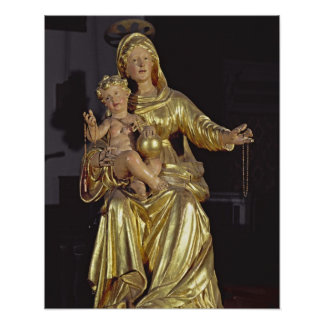 Madonna and Child, 17th century (gilded wood) Poster