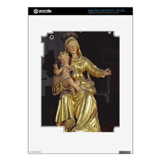 Madonna and Child, 17th century (gilded wood) Decal For iPad 3