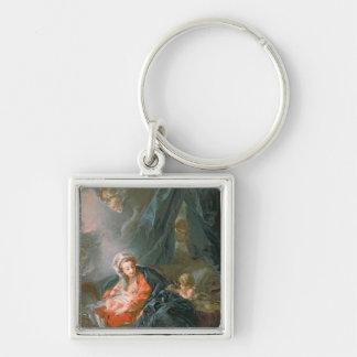 Madonna and Child, 18th century Keychain