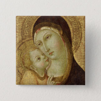 Madonna and Child 2 Button