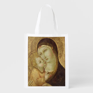 Madonna and Child 2 Grocery Bag