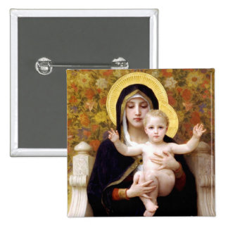 Madonna and Child 2 Inch Square Button