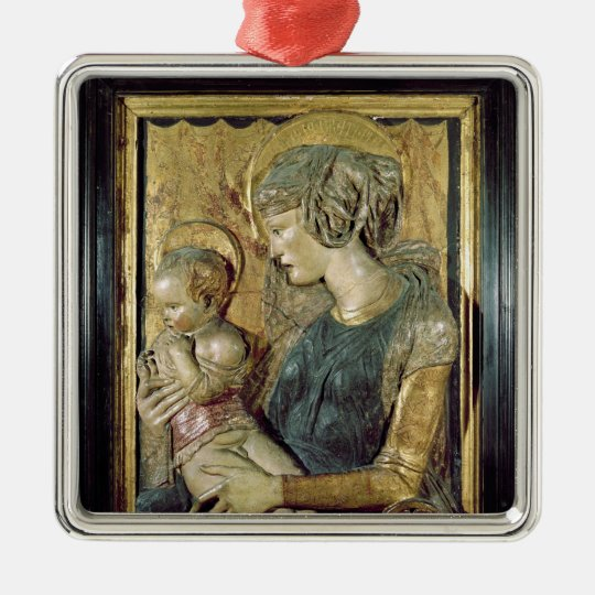 Madonna and Child 2 Metal Ornament