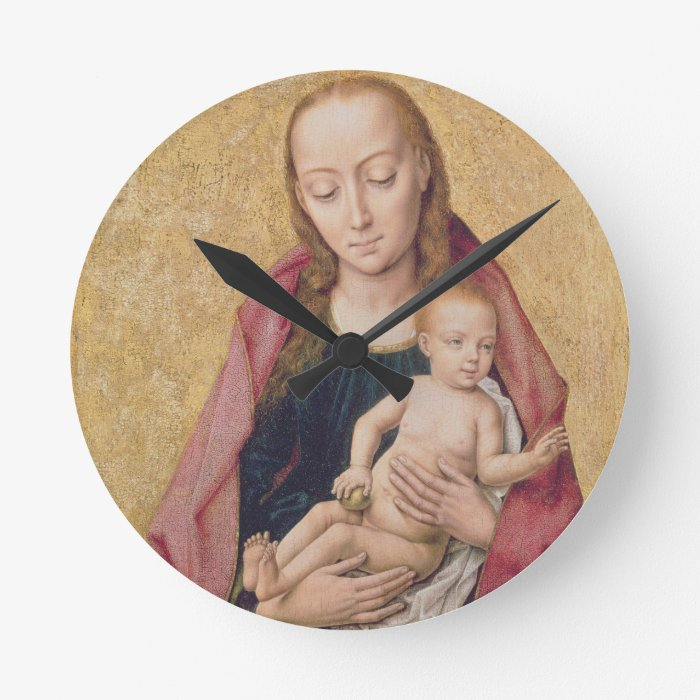 Madonna and Child 2 Round Clock