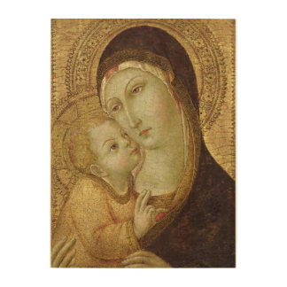Madonna and Child 2 Wood Print