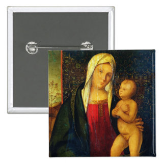 Madonna and Child 3 Pinback Button