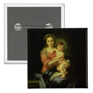 Madonna and Child, after 1638 Pinback Button