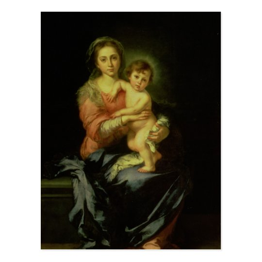 Madonna and Child, after 1638 Postcard