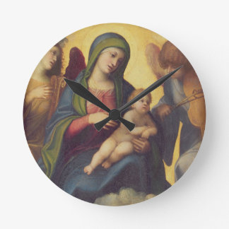 Madonna and Child and child in Glory, c.1520 (oil Round Clock