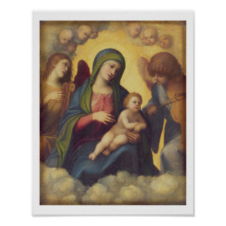 Madonna and Child and child in Glory, c.1520 (oil Poster