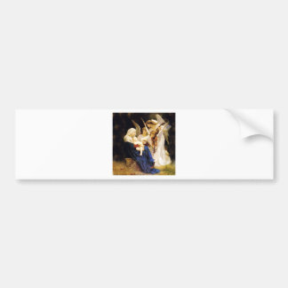 Madonna and Child and Three Angels Bumper Sticker