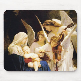Madonna and Child and Three Angels Mouse Pad