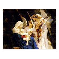Madonna and Child and Three Angels Postcard
