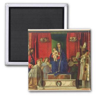 Madonna and Child (Barbarigo Altarpiece) 1488 Magnet